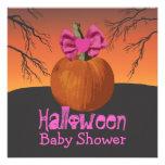 La fiesta de bienvenida al bebé de Halloween invit Comunicados Personales