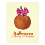 La fiesta de bienvenida al bebé de Halloween invit Comunicado