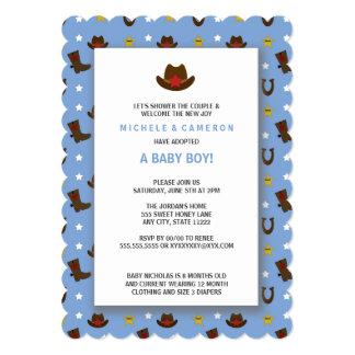 """La fiesta de bienvenida al bebé de la adopción del invitación 5"""" x 7"""""""