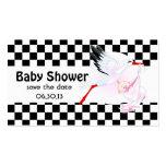 La fiesta de bienvenida al bebé de la cigüeña y plantilla de tarjeta de visita
