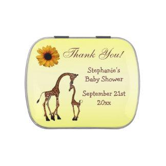La fiesta de bienvenida al bebé de la jirafa de la frascos de dulces