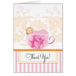 La fiesta de bienvenida al bebé de la taza de té l tarjeta