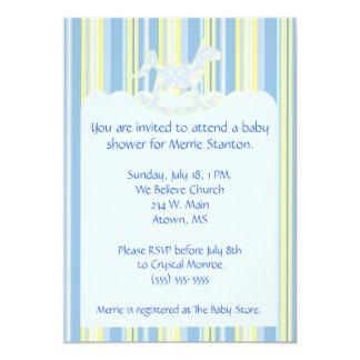 """La fiesta de bienvenida al bebé de las conchas de invitación 5"""" x 7"""""""