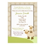 La fiesta de bienvenida al bebé de las ovejas del  invitaciones personales