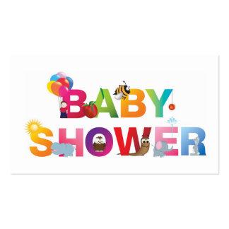 La fiesta de bienvenida al bebé de las palabras tarjetas de visita
