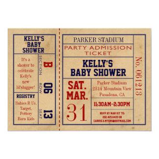 La fiesta de bienvenida al bebé del boleto de los invitación 12,7 x 17,8 cm