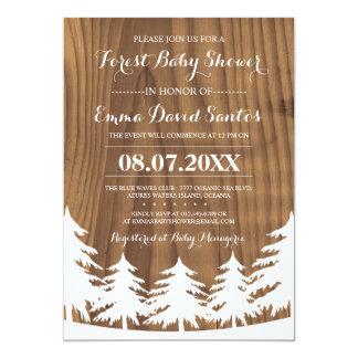 La fiesta de bienvenida al bebé del bosque invita invitación 12,7 x 17,8 cm