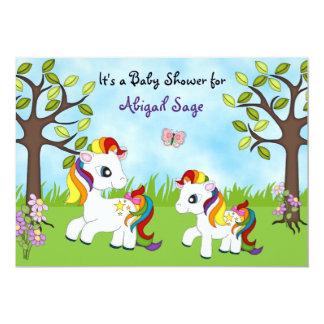 La fiesta de bienvenida al bebé del caballo de los invitación 12,7 x 17,8 cm