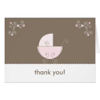 La fiesta de bienvenida al bebé del carro le agrad tarjeta