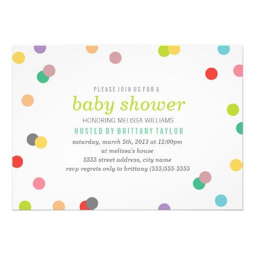 La fiesta de bienvenida al bebé del confeti del ar invitacion personal