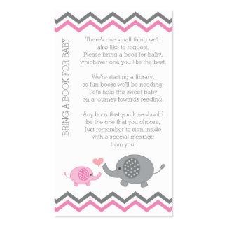 La fiesta de bienvenida al bebé del elefante trae tarjetas de visita