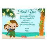 La fiesta de bienvenida al bebé del mono de Hula l Invitacion Personalizada
