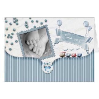 La fiesta de bienvenida al bebé del muchacho le ag tarjetas