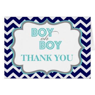 La fiesta de bienvenida al bebé del muchacho oh le tarjeta