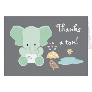 La fiesta de bienvenida al bebé del pañal del elef tarjetas
