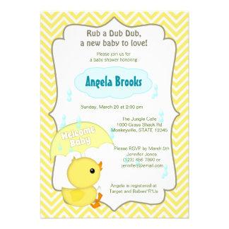 La fiesta de bienvenida al bebé del pato de Chevro Comunicado Personalizado