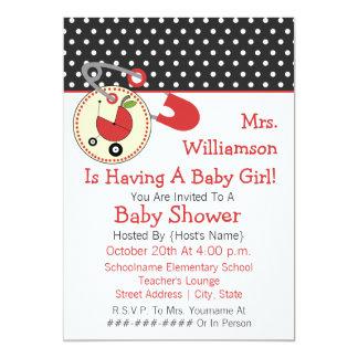 La fiesta de bienvenida al bebé del profesor invitacion personalizada