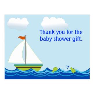 La fiesta de bienvenida al bebé del velero le agra postales