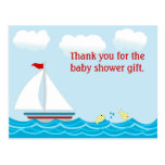 La fiesta de bienvenida al bebé del velero le agra tarjeta postal