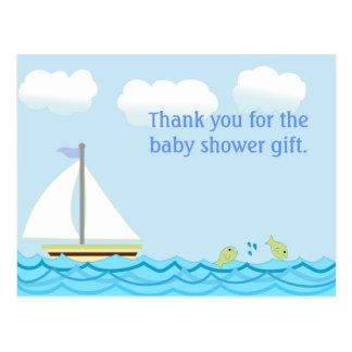 La fiesta de bienvenida al bebé del velero le agra tarjetas postales