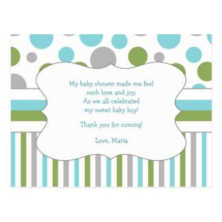 La fiesta de bienvenida al bebé del verde azul le postal
