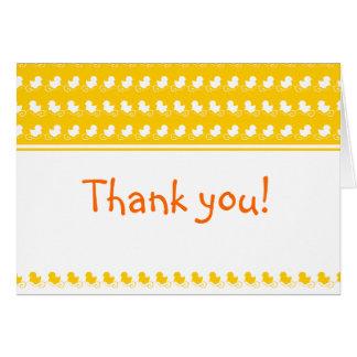 la fiesta de bienvenida al bebé ducky amarilla de  tarjeta de felicitación