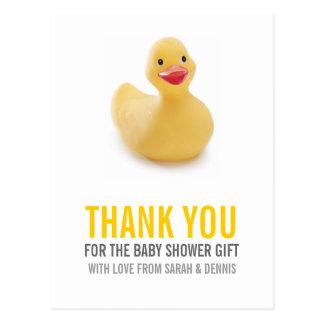 La fiesta de bienvenida al bebé Ducky amarilla le  Postales