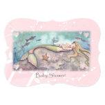 La fiesta de bienvenida al bebé dulce de la sirena invitación 12,7 x 17,8 cm