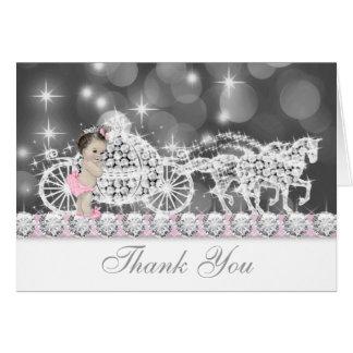 La fiesta de bienvenida al bebé dulce del rosa del tarjeta pequeña