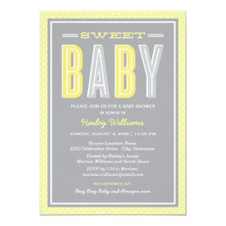 La fiesta de bienvenida al bebé el | elegante invitación 12,7 x 17,8 cm