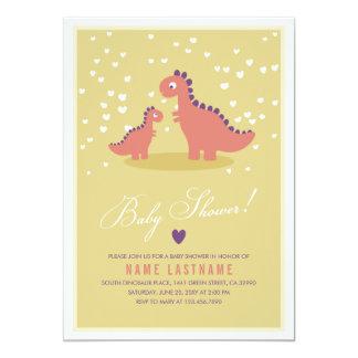 La fiesta de bienvenida al bebé elegante del rosa invitacion personal