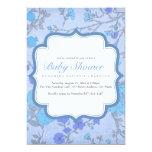 La fiesta de bienvenida al bebé enorme azul de la invitación 12,7 x 17,8 cm