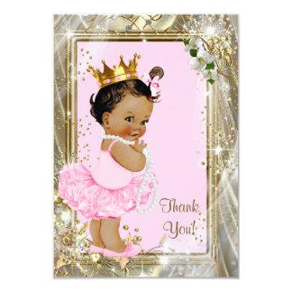 """La fiesta de bienvenida al bebé étnica de princesa invitación 3.5"""" x 5"""""""
