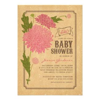La fiesta de bienvenida al bebé floral de la fiest anuncios personalizados