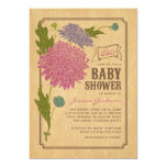 La fiesta de bienvenida al bebé floral de la anuncios