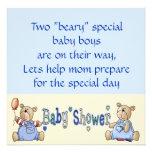 La fiesta de bienvenida al bebé gemela especial de comunicados personalizados