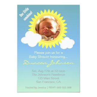 La fiesta de bienvenida al bebé invita: Poca sol y Invitación 12,7 X 17,8 Cm
