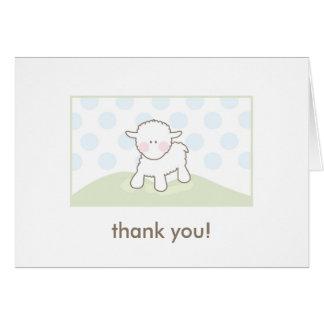 La fiesta de bienvenida al bebé le agradece - azul tarjeta pequeña