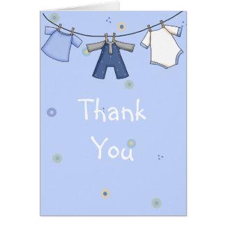 La fiesta de bienvenida al bebé le agradece cardar tarjeta de felicitación