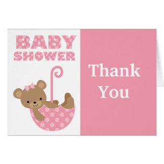 La fiesta de bienvenida al bebé le agradece cardar tarjeta pequeña