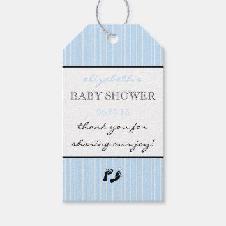La fiesta de bienvenida al bebé le agradece etiquetas para regalos
