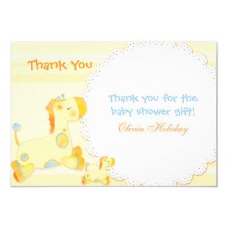 La fiesta de bienvenida al bebé le agradece las invitación 8,9 x 12,7 cm