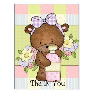 La fiesta de bienvenida al bebé le agradece llevar tarjetas postales