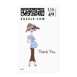 La fiesta de bienvenida al bebé le agradece mamá timbres postales