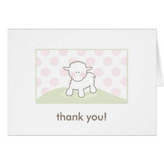 La fiesta de bienvenida al bebé le agradece - rosa felicitación