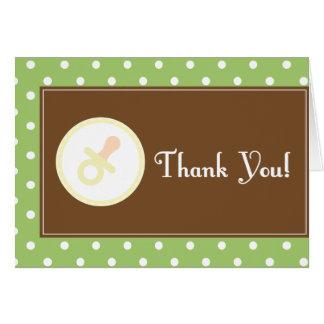 La fiesta de bienvenida al bebé le agradece tarjet tarjeta pequeña