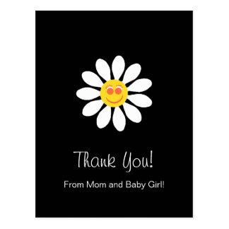 La fiesta de bienvenida al bebé le agradece tarjeta postal