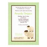 La fiesta de bienvenida al bebé linda de las oveja invitacion personal