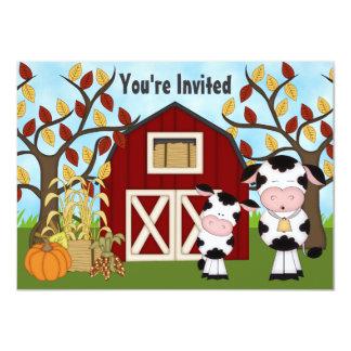 La fiesta de bienvenida al bebé linda del otoño de invitación 11,4 x 15,8 cm