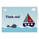La fiesta de bienvenida al bebé náutica del bebé tarjeta pequeña